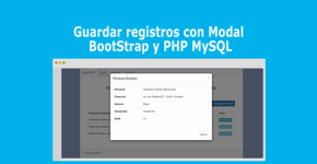 Guardar registros con Modal BootStrap y PHP MySQL