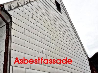Asbestfassade Baujahr 1965 Baubiologe Baubiologie Elektrosmog, Schimmelpilz