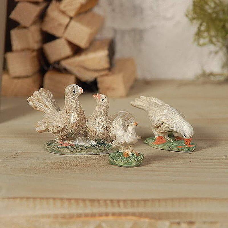 3teilige Tiergruppe Tauben fr die weihnachtliche Krippe