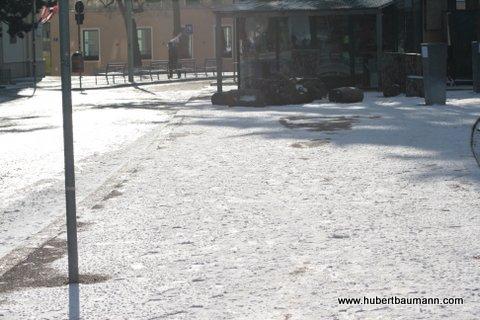 erster Schnee am Kahlenberg