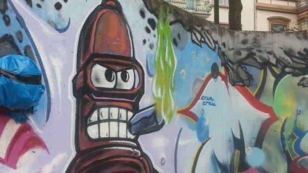 Graffiti Wiesbaden Kochbrunnen Kinderspielplatz 002