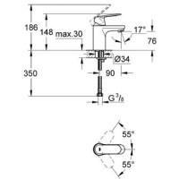 GROHE Einhand-Waschtisch-Batterie Eurosmart C 32824000