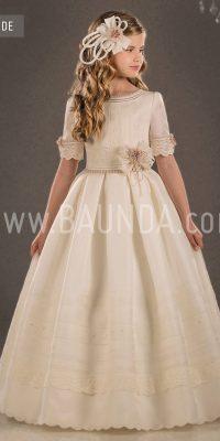 Baunda Silk communion dress Valeria 2018 model Duende ...