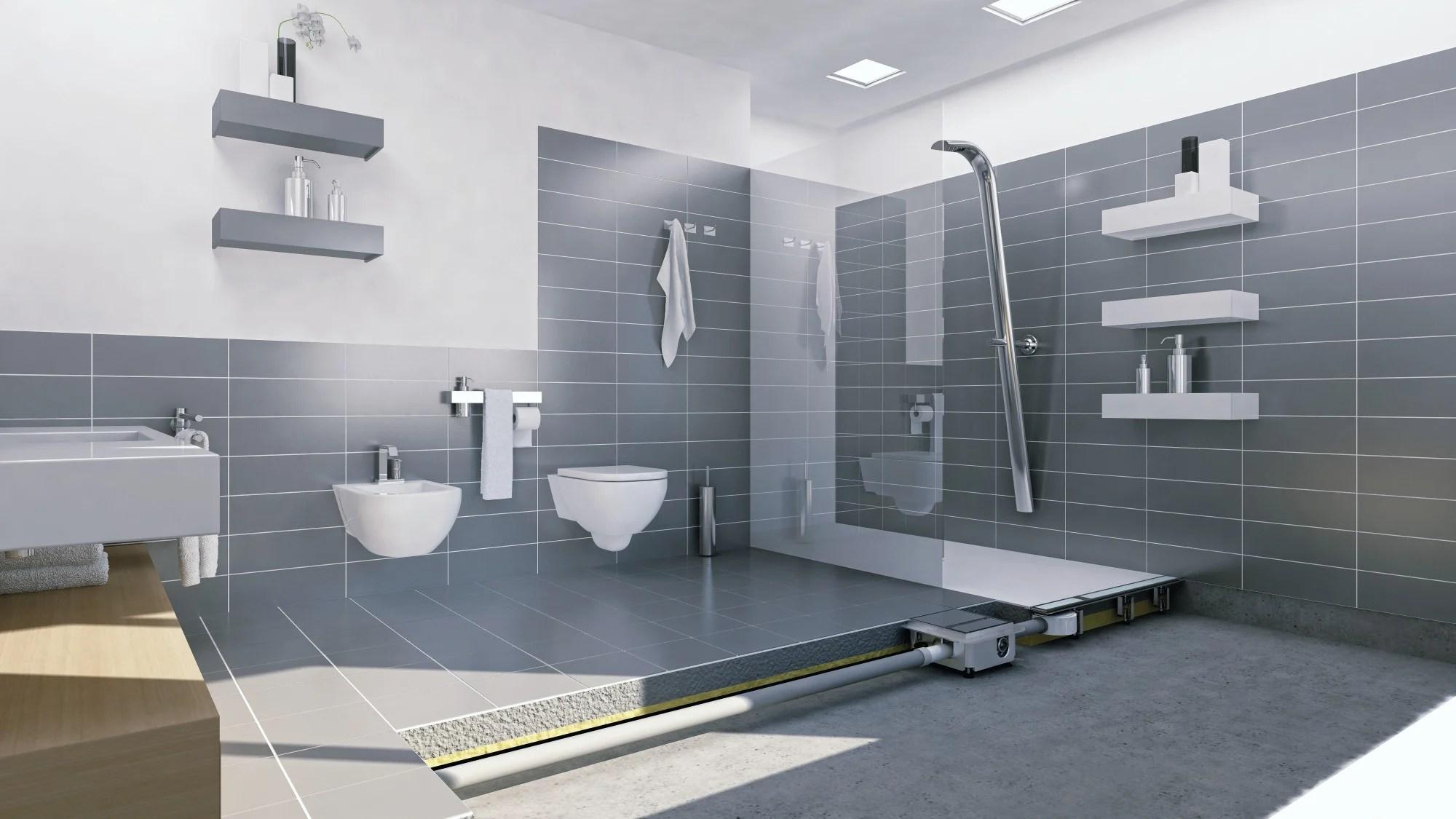 Bodengleiches Duschelement Für Holzbalkendecken | Bad Und Sanitär