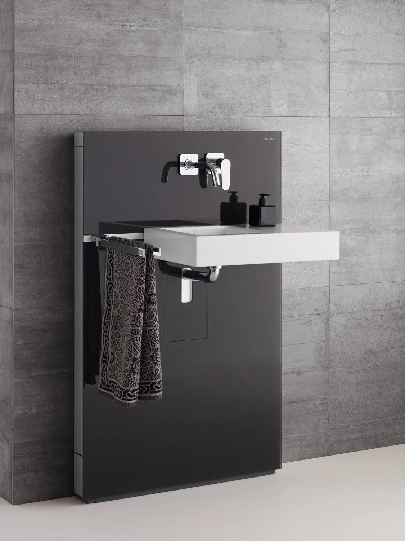 Flache Vorwandinstallation fr WC Bidet und Waschtisch