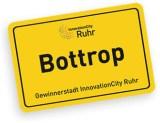 Ortseingangsschild von Bottrop, der InnovationCity Ruhr