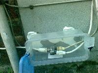 Kabelanschluss in einer Tupperdose
