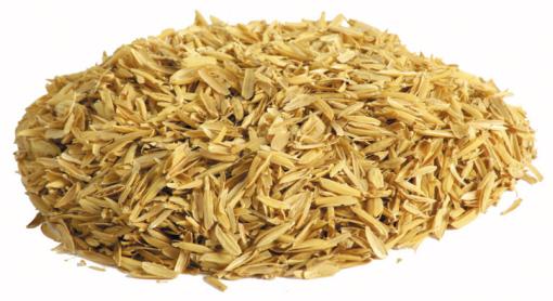 Ein Haufen Reisspelzen Reishülsen