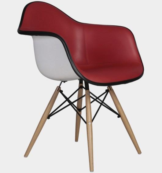 Designstuhl Charles Eames DAW gepolstert