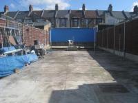 Garten aus Beton leicht zu pflegen