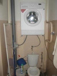 Waschmaschine über Toilette angeschlossen