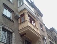 Balkon Erker in verschiedenen Bauarten Stil