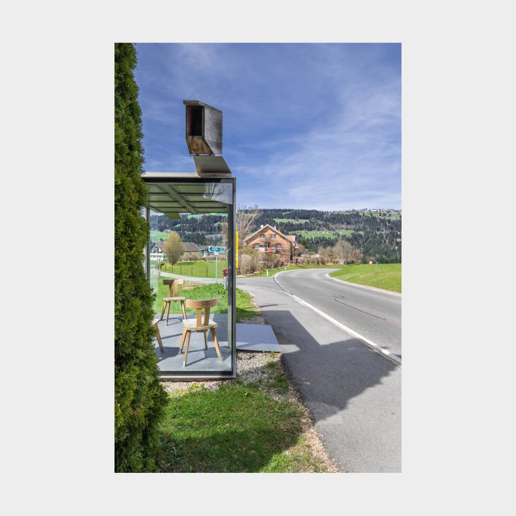 Architekturfotografie Krumbach Bushaltestelle Zwing