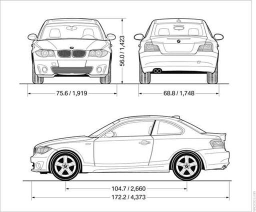 Dimension Bmw Serie 1. bmw 1 series dimensions car reviews
