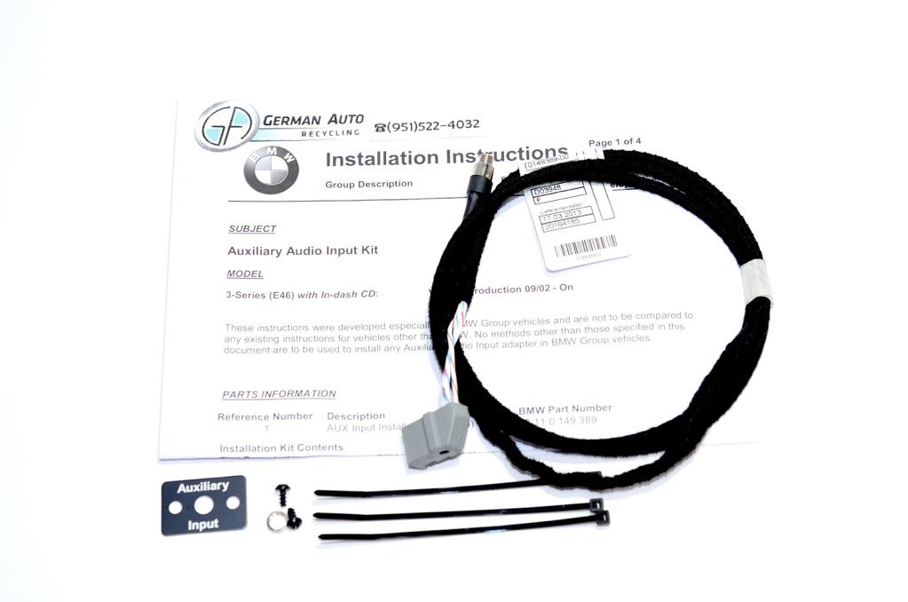 BMW E46 AUX Auxillary Audio Input KIT Iphone Ipod