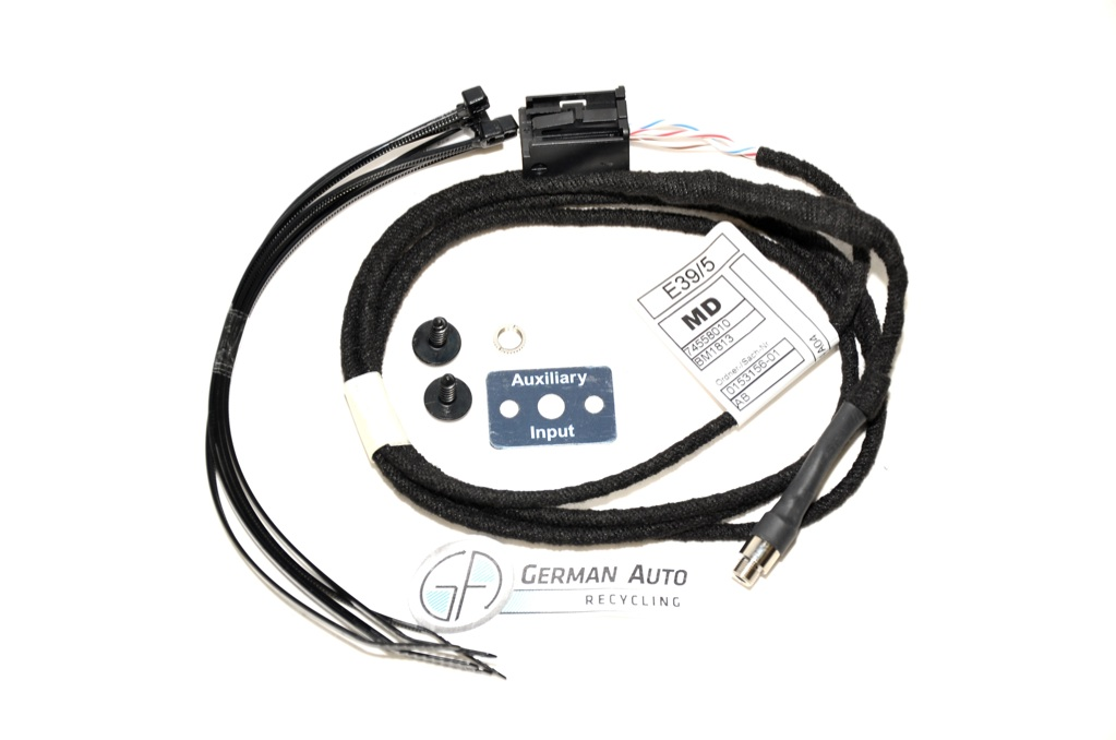 BMW New E60 E61 E62 E63 Aux Cable Auxiliary Audio Input