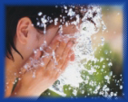 acidic ionized water removes grease acting as a natural astringent on the skin
