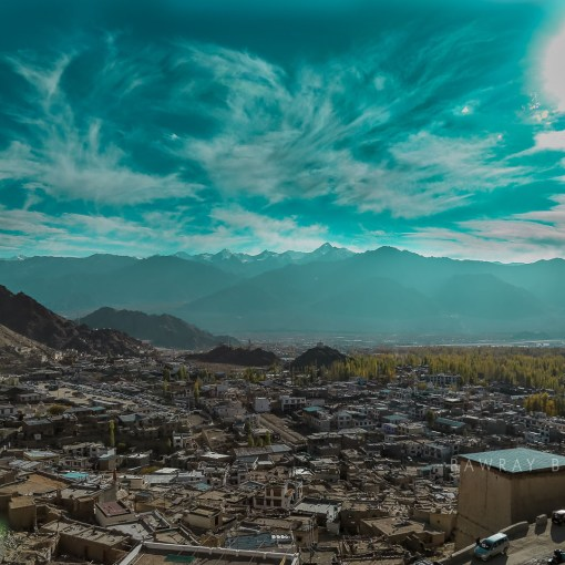 The city of Leh as seen from height