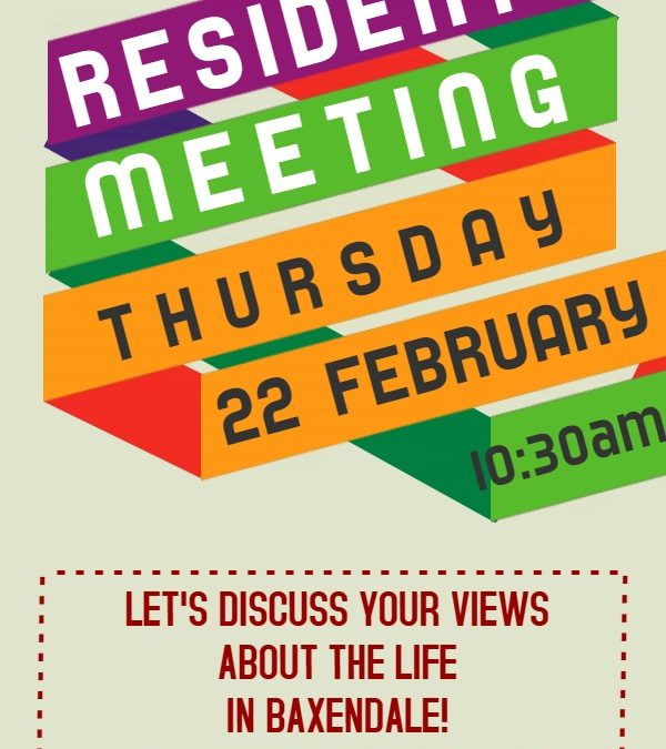 residents meeting on thursday