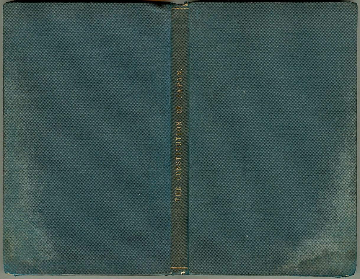 Meiji Constitution Laws Ordinance English Translation C Brentano S Print