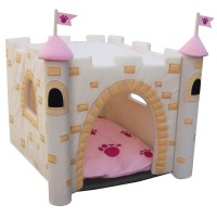 Castle Dog House - Pink   BaxterBoo