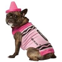 Crayola Crayon Dog Costume by Rasta Imposta - Pink | BaxterBoo