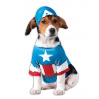 Marvel Captain America Dog Costume at BaxterBoo
