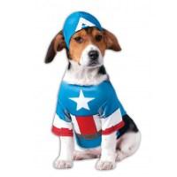 Marvel Captain America Dog Costume at BaxterBoo