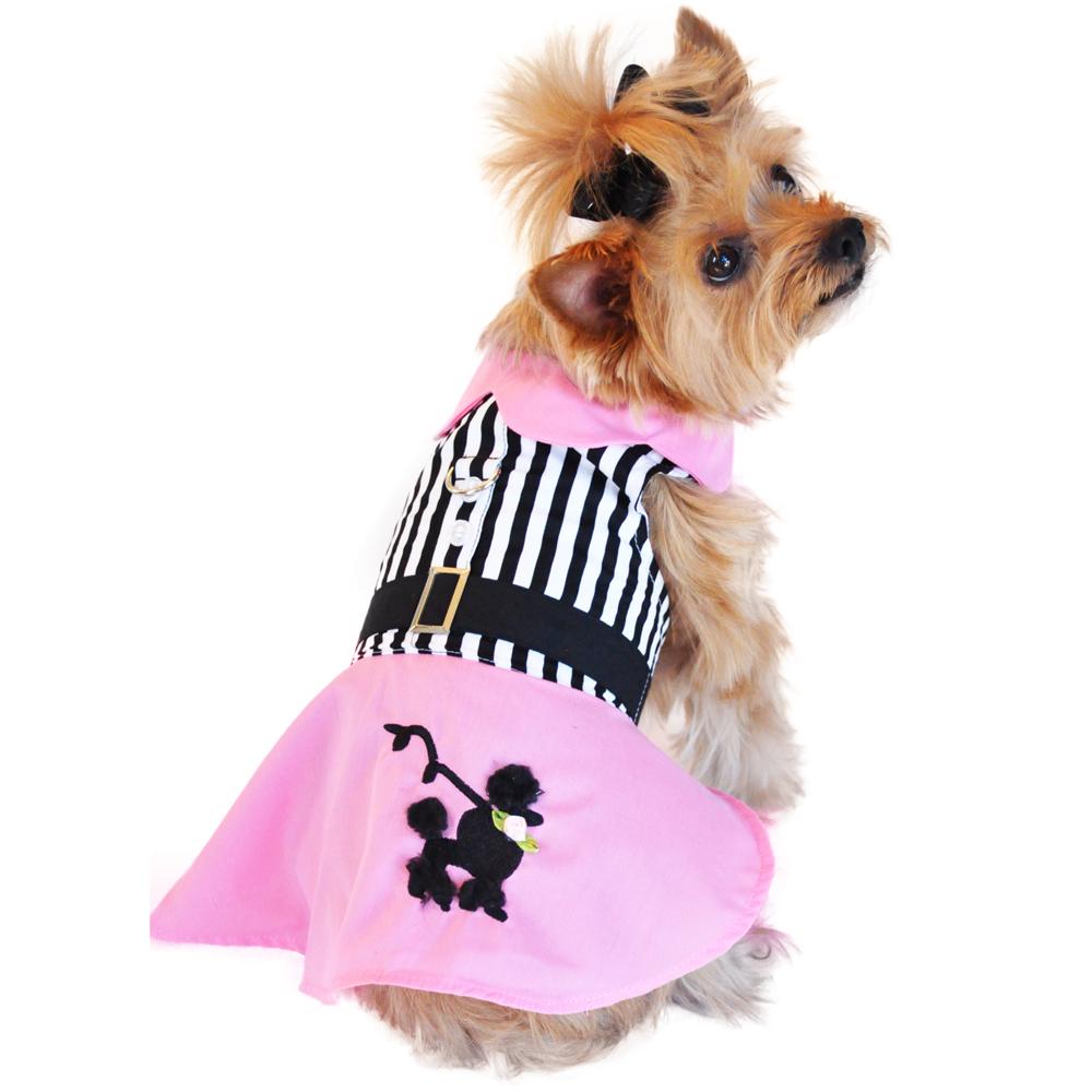 Pink Poodle Designer Dog Harness Dress