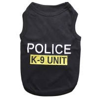 Police K9 Unit Dog Tank - Black at BaxterBoo