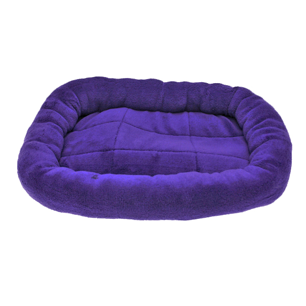 Slumber Pet Bright Terry Crate Dog Bed - Purple at BaxterBoo