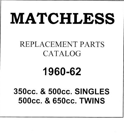 Matchless 1960-62 Singles & Twins Parts Book