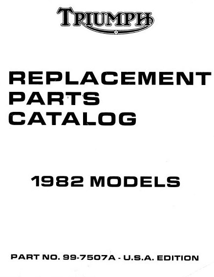 Triumph 1982 Models Parts Book – Downloadable