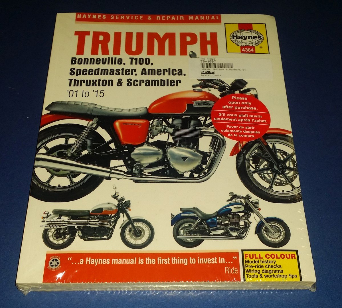 hight resolution of triumph 2001 to 2015 service repair manual