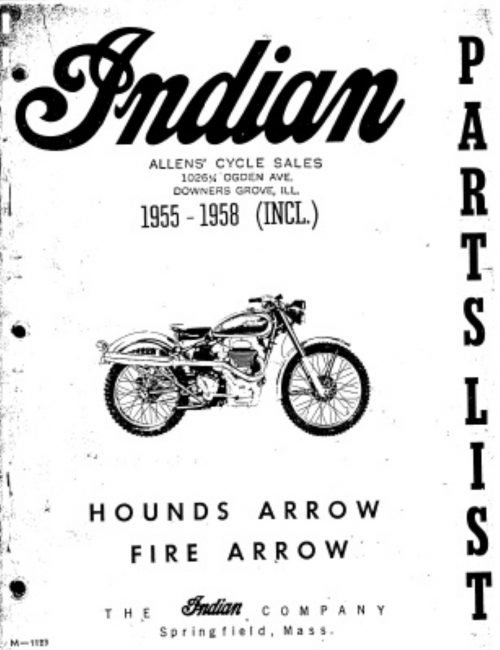 Indian 1955-58 – Hounds Arrow, Fire Arrow