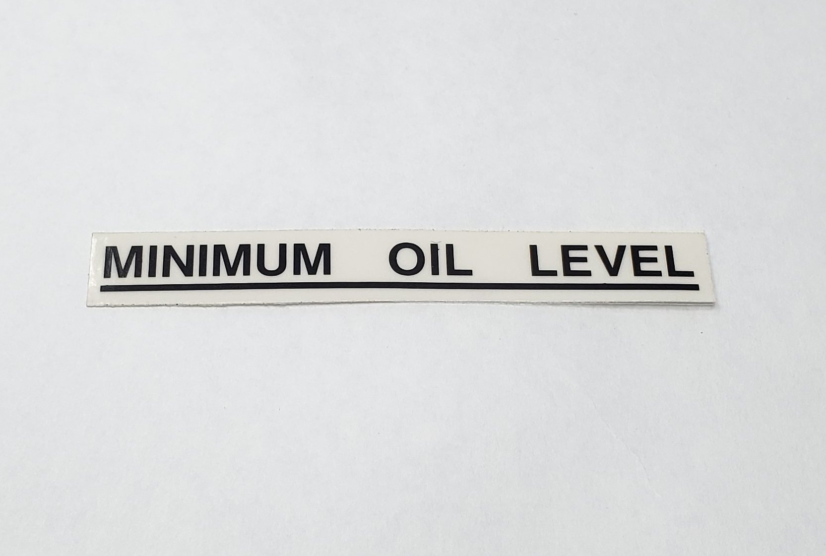 Triumph Minimum Oil Level Decal – Black