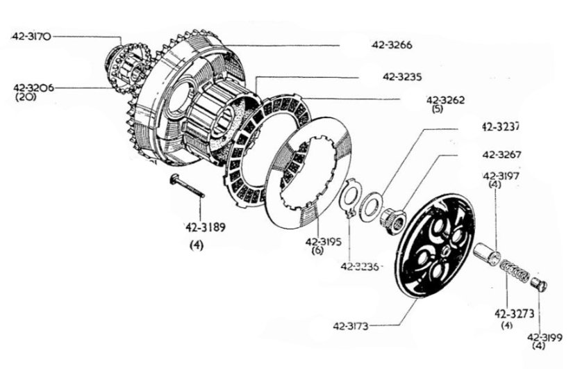 4 Spring Clutch Conversion Assembly