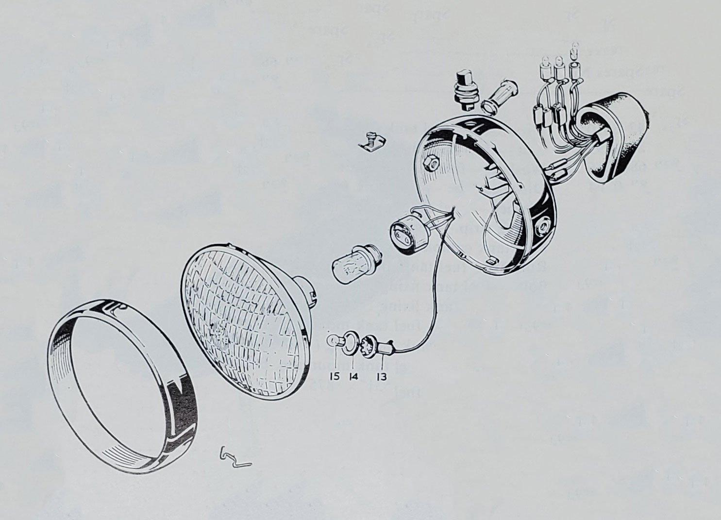 60260 – BSA A75 Rocket 3 Headlight Assembly