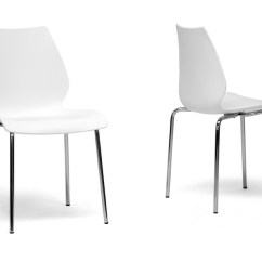 Modern Plastic Chair Rocking Covers Canada Overlea White Dining Affordable Design Baxton Studio