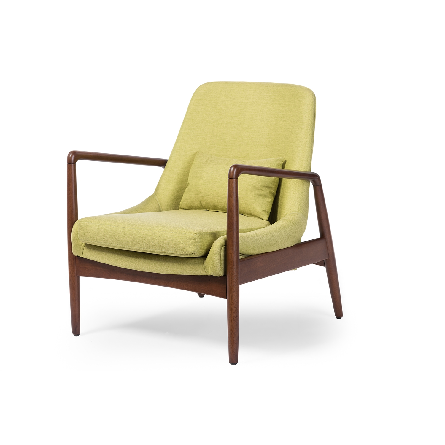 baxton studio modern leather accent chair design basics carter mid century retro green fabric