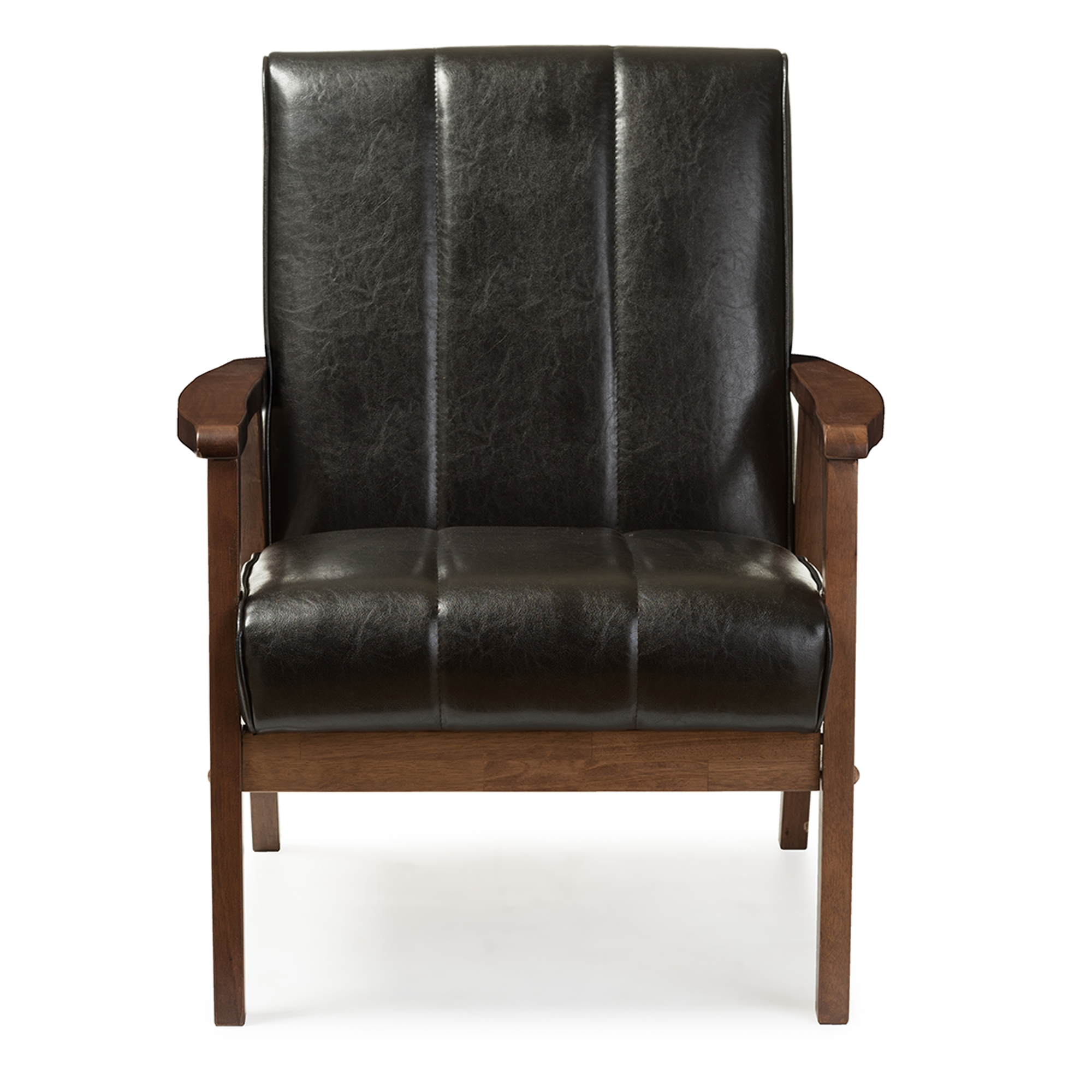 baxton studio modern leather accent chair design steel nikko mid century scandinavian style