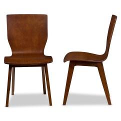 Dark Walnut Dining Chairs Restoration Hardware Wingback Chair Baxton Studio Elsa Mid Century Modern Scandinavian Style