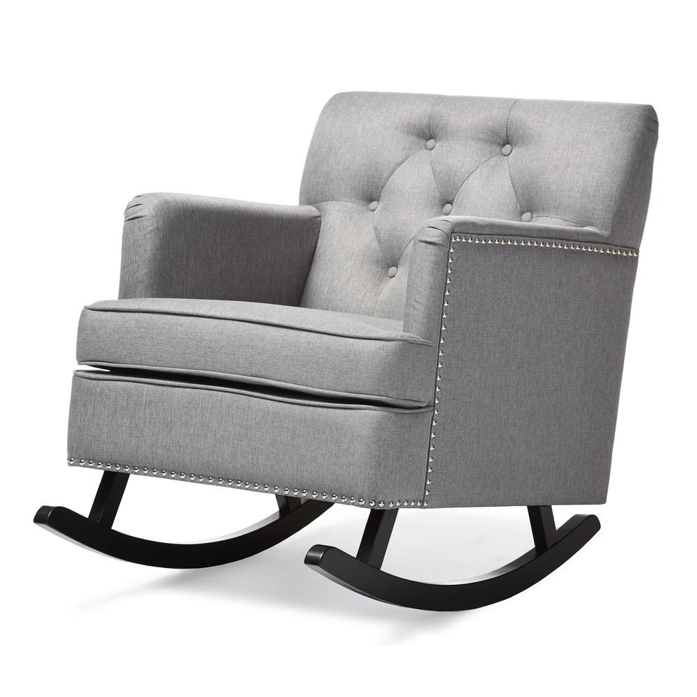 Baxton Studio Bethany Modern and Contemporary Grey Fabric