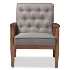Grey Club Chair Covers For Thanksgiving Baxton Studio Sorrento Mid Century Retro Modern