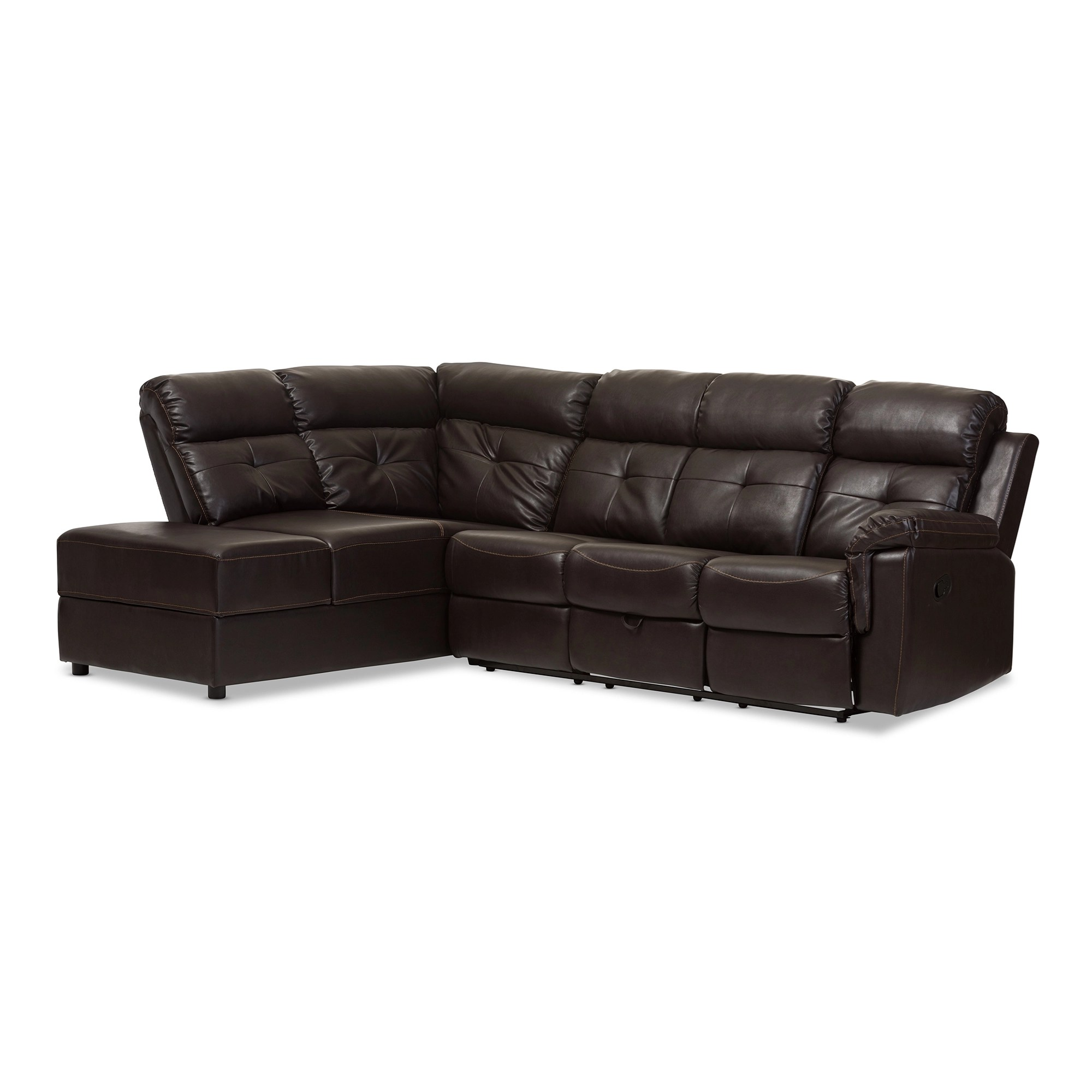 2 piece brown leather sofa abbyson living beverly baxton studio roland modern and contemporary dark