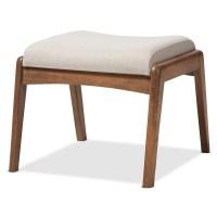 Baxton Studio Roxy Mid-Century Modern Walnut Wood ...