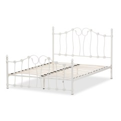 Feminine Executive Office Chairs And Tables Rentals Baxton Studio Darcy Victorian Style Antique White Metal Queen Size Platform Bed