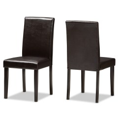 Contemporary Leather Dining Chairs Office Table And Baxton Studio Mia Modern Dark Brown Faux
