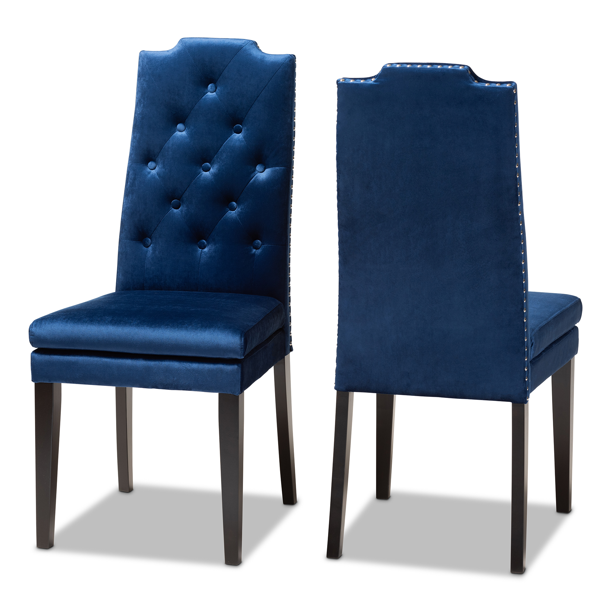 Baxton Studio Dylin Modern And Contemporary Navy Blue Velvet
