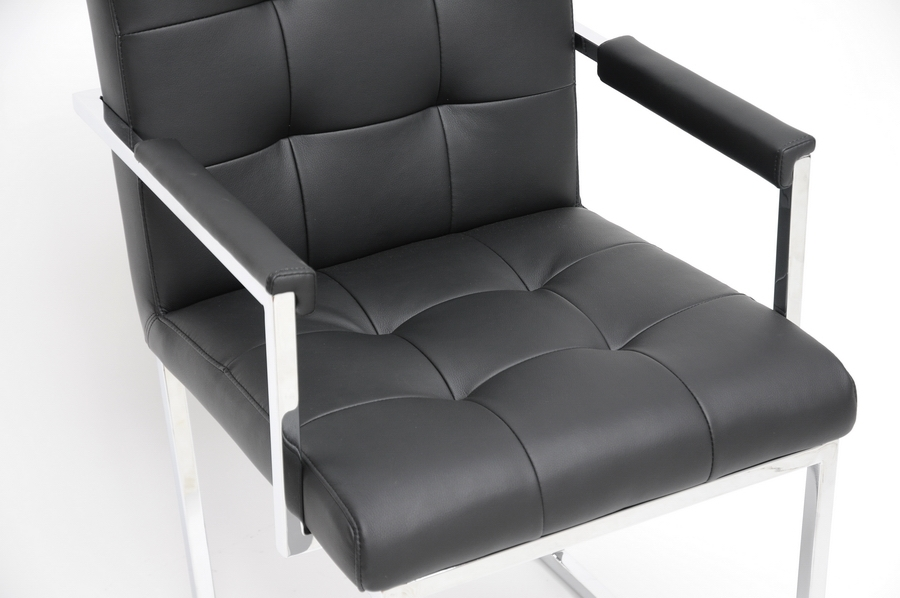 serta bonded leather executive chair walmart table and sets baxton studio collins black mid-century modern accent | home office furniture affordable ...